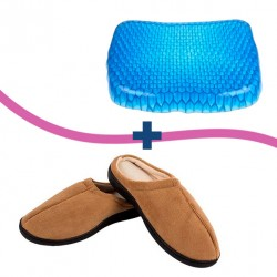 CUSCINO COMFI SIT ANTIDECUBITO + PANTOFOLE STEPLUXE RELAX GEL