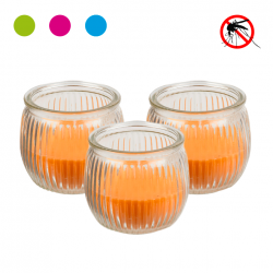 SET 3 CANDELE DECORATIVE ALLA CITRONELLA