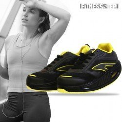 SCARPE SPORTIVE FITNESS STEP BLACK – YELLOW