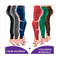 LEGGINGS SLIM JEANS MODELLANTI ALL'ULTIMA MODA