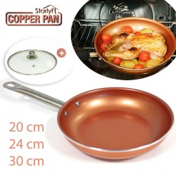 COPPER PAN CON COPERCHIO